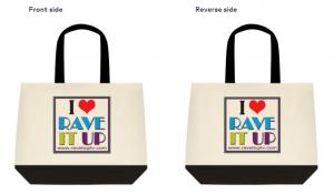 eco-friendly two tone tote bag